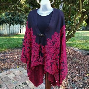 Buckle Front Cape by Dana Buchman